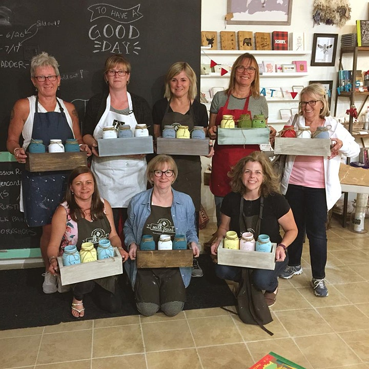 Painted Jar Box Workshop - VIRTUAL EVENT image