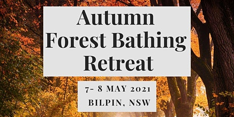 Autumn Forest Bathing (Shinrin-yoku) Retreat tickets