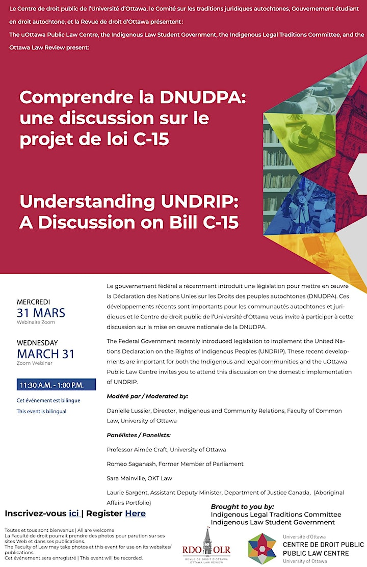 Understanding UNDRIP: A Discussion on Bill C-15 image