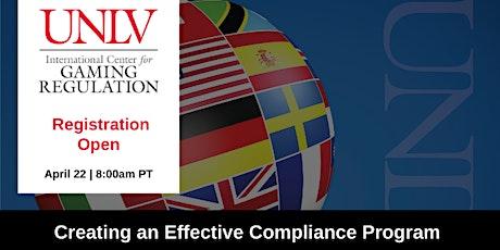Creating an Effective Compliance Program tickets