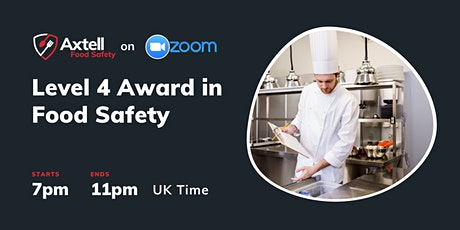 Level 4 Award in Managing Food Safety  -  7pm start time tickets