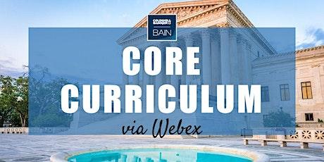 CB Bain | Core Curriculum (3 CH-WA) | Webex | September 24th 2021 tickets