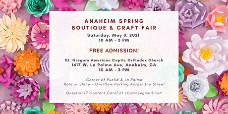 Anaheim Spring Boutique & Craft Fair tickets