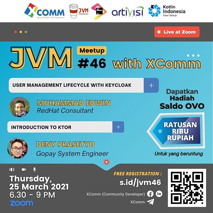 JVM Meetup #46 : Tech Talk with XComm image