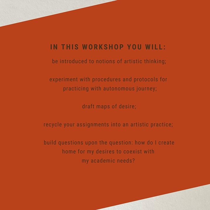 Online Workshop: academia like an artist image