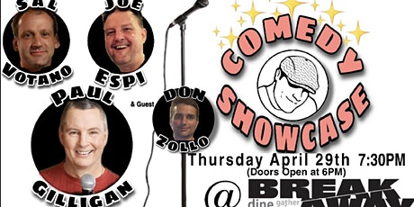 Comedy Showcase at Breakaway with Paul Gilligan and Friends tickets