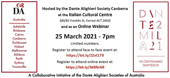 National Launch of Dante Under the Southern Cross image