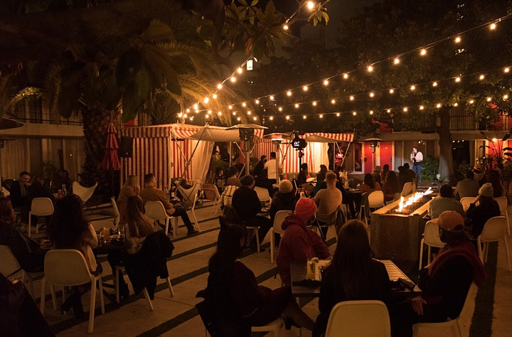 F Bomb Presents: Poolside Comedy at Chambers eat + drink! image