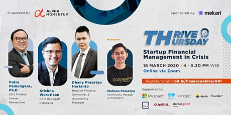Thrive Thursday : Startup Financial Management in Crisis tickets