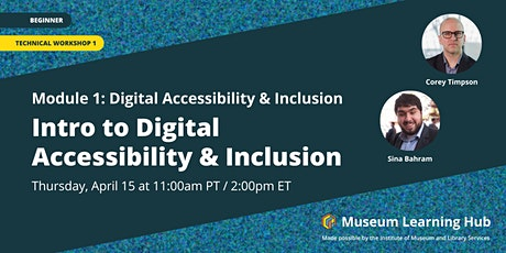 Technical Workshop 1: Intro to Digital Accessibility & Inclusion tickets