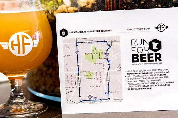 Beer Run - Headflyer Brewing | 2021 MN Brewery Running Series image