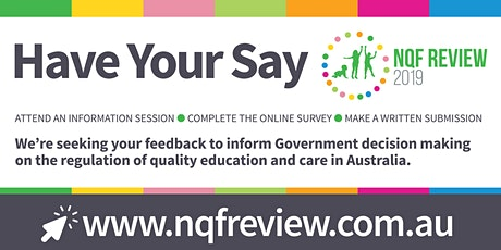 2019 NQF Review Information Session - WA - Metro - Evening tickets