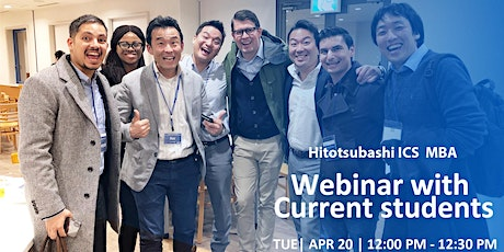Hitotsubashi ICS Webinar with Current Students tickets