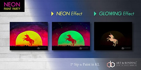 Sip & Paint Night : NEON Paint Party - Glowing Unicorn tickets