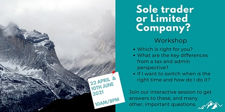 Sole Trader or Limited Company - which is best for you? tickets