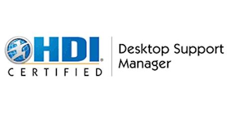 HDI Desktop Support Manager 3 Days Training in Kitchener tickets