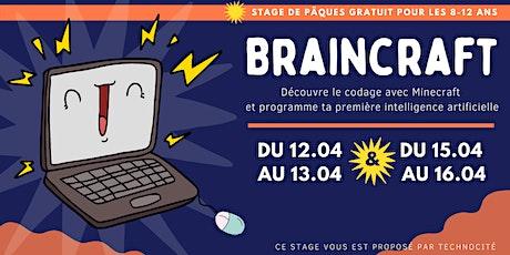 Stage pour les 8-12 ans | Minecraft et Intelligence Artificielle (Gratuit) tickets