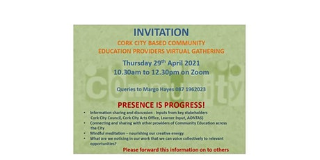 A Gathering of Cork City Community Education Providers 29th April 2021 tickets