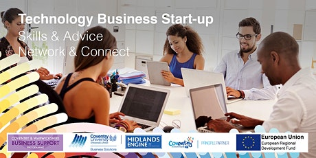 STARTUP WEBINAR -  Grants for tech startups in Coventry  & Warwickshire tickets