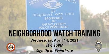 FCPD West Springfield District Station Neighborhood Watch Training Program tickets