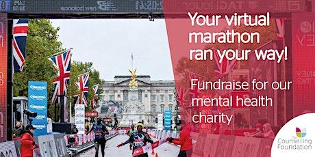 The Counselling Foundation Virtual London Marathon 2021 tickets