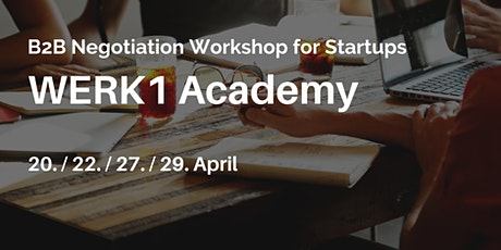 B2B Negotiation Workshop for Startups Tickets