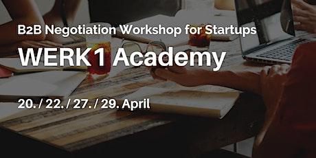 B2B Negotiation Workshop for Startups tickets