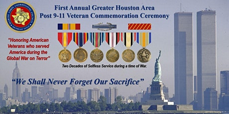 1st Annual Greater Houston Area Post 9-11 Veteran Commemoration Ceremony boletos