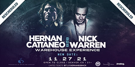 Hernan Cattaneo B2B Nick Warren Warehouse Experience | Denver tickets