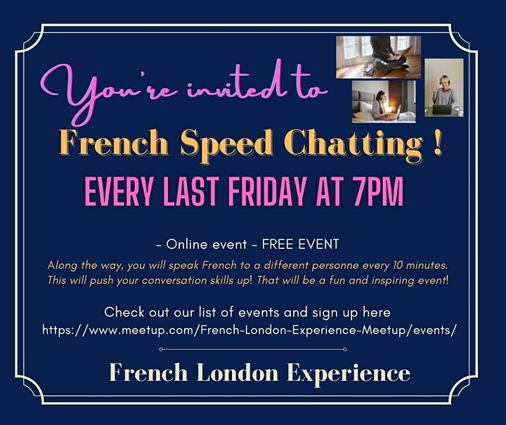 """""""French Speed Chatting""""! - FREE MONTHLY EVENT image"""