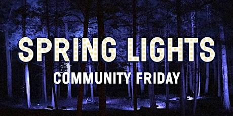 Spring Lights Community Friday {April 30} tickets