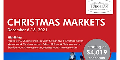 Virtual Travel Show: Visit European Christmas Markets in 2021 tickets