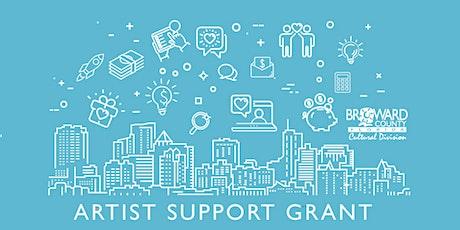 Artist Support Grant: Application Workshop tickets