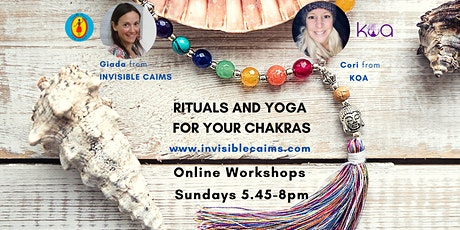 Rituals and Yoga for your Chakras : online workshop ingressos