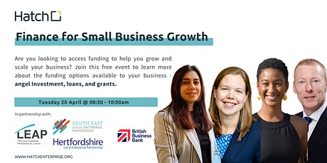 Accessing Finance for Small Business Growth tickets