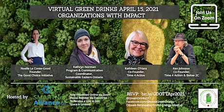 Virtual Green Drinks April - Organizations with Impact tickets