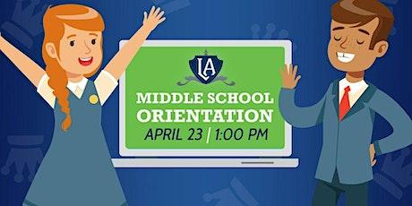 Leman Virtual Academy Middle School Orientation tickets