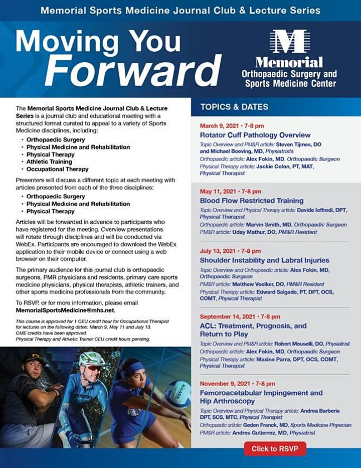 Memorial Sports Medicine Journal Club & Lecture Series image