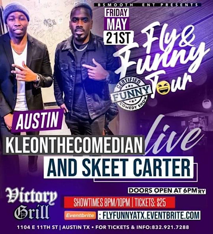 ATX Fly & Funny Comedy Tour Starring KleonTheComedian & SkeetCarter image