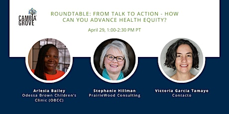 Roundtable: From Talk to Action: How Can You Advance Health Equity? tickets