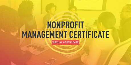 Nonprofit Management Certificate (6 Sessions) tickets