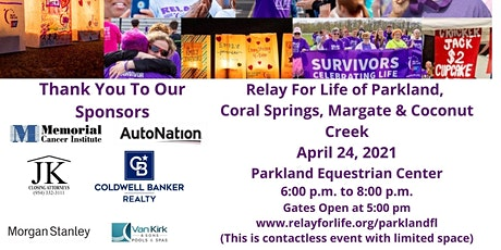 Relay For Life of Parkland, Coral Springs, Margate and Coconut Creek tickets