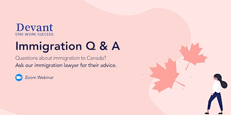 Ask an Expert: Immigration Q and A tickets