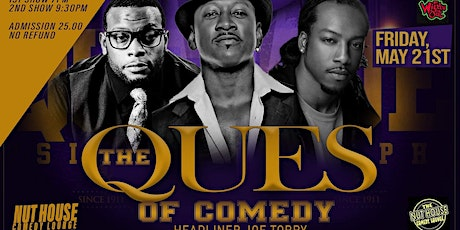 THE QUES OF COMEDY starring JOE TORRY (MAY 21ST) tickets