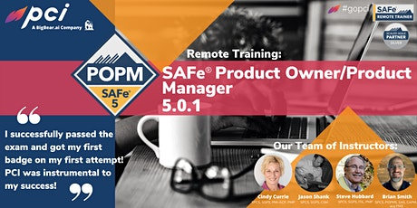 SAFe® Product Owner/Product Manager 5.0.1 - Remote tickets