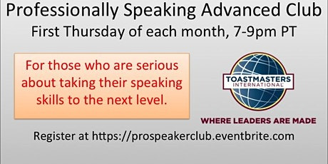 Up-level Your Speaking Skills—Professionally Speaking Advanced Club tickets