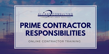 Prime Contractor Responsibilities tickets