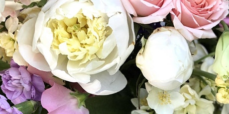 Wine & Flowers Workshop: Peonies and Lilacs Arrangement tickets
