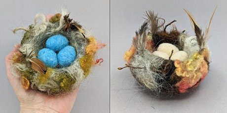 Needle Felt a Bird Nest with Eggs Workshop - Weekend edition tickets
