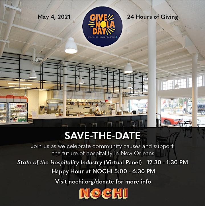 GiveNOLA Day Hospitality Panel & Happy Hour image